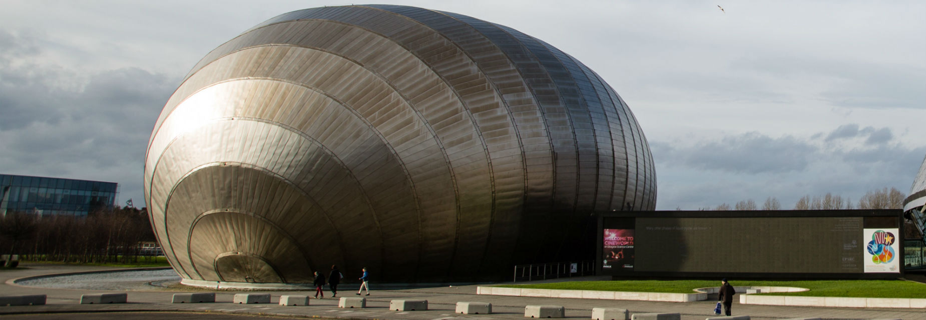 The Cineworld IMAX building at Glasgow Science Centre