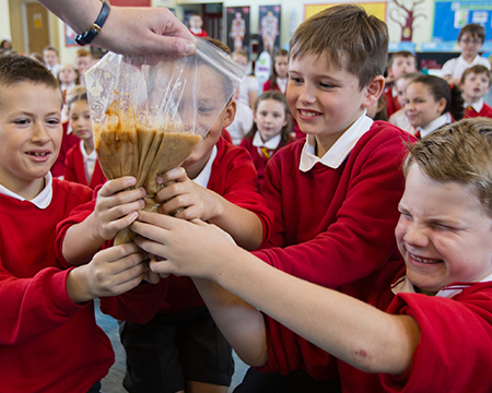 Primary School Children take part in our BodyWorks on Tour Disgusting Digestion Workshop