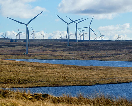 Whitelee Windfarm Turbines