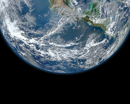 Planet Earth viewed from space
