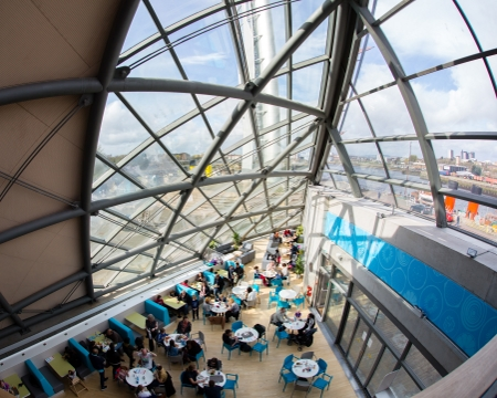 Taste Cafe event space Glasgow Science Centre