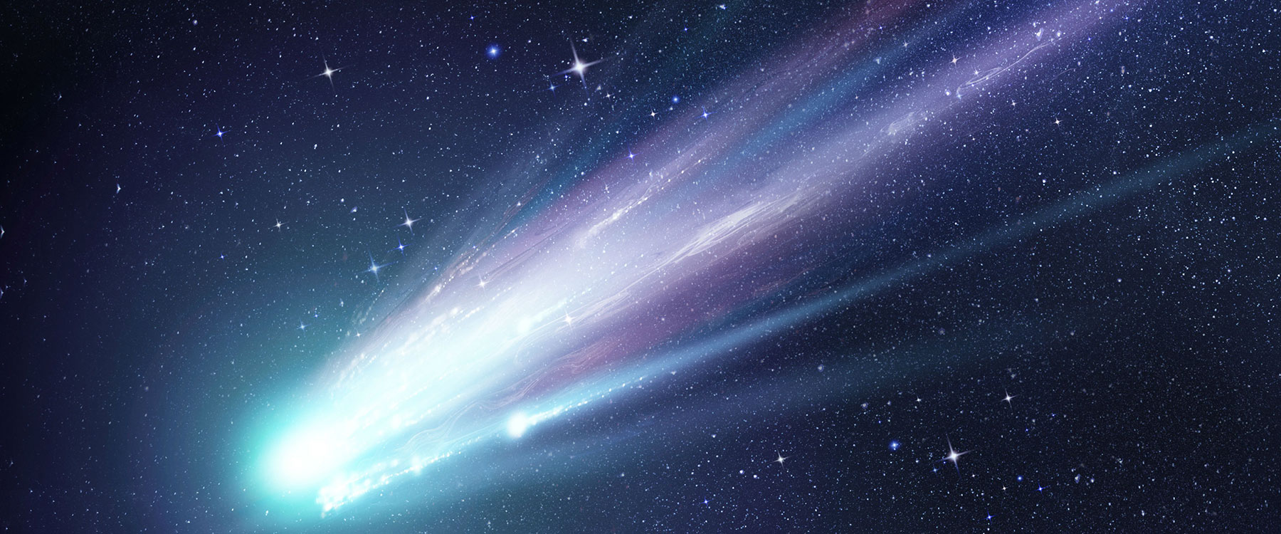 Comet flies through the sky