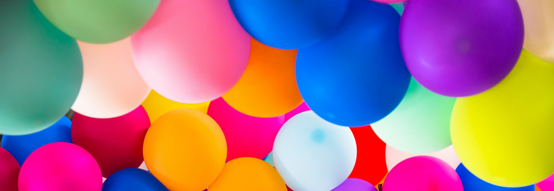 A multi-coloured bunch of balloons