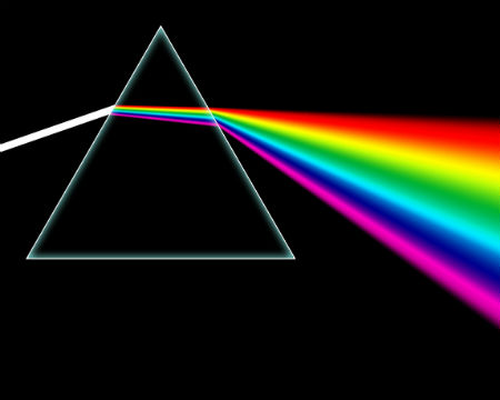 Dark Side of the Moon prism rainbow