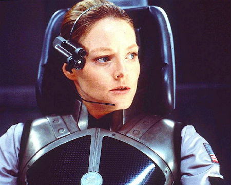 Jodie Foster character in the Contact film
