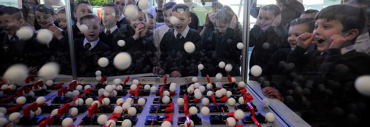 pupils watching chain reaction