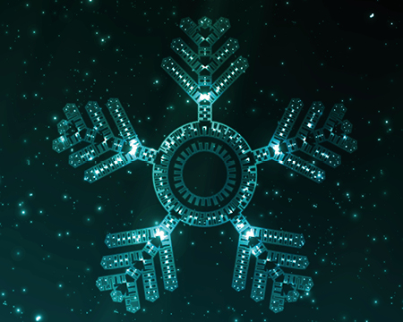 Light up snowflake