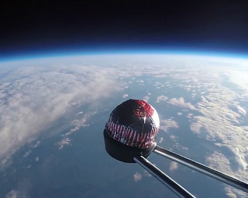 Terry the teacake above the Earth