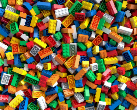 Image contains a pile of lots of lego bricks