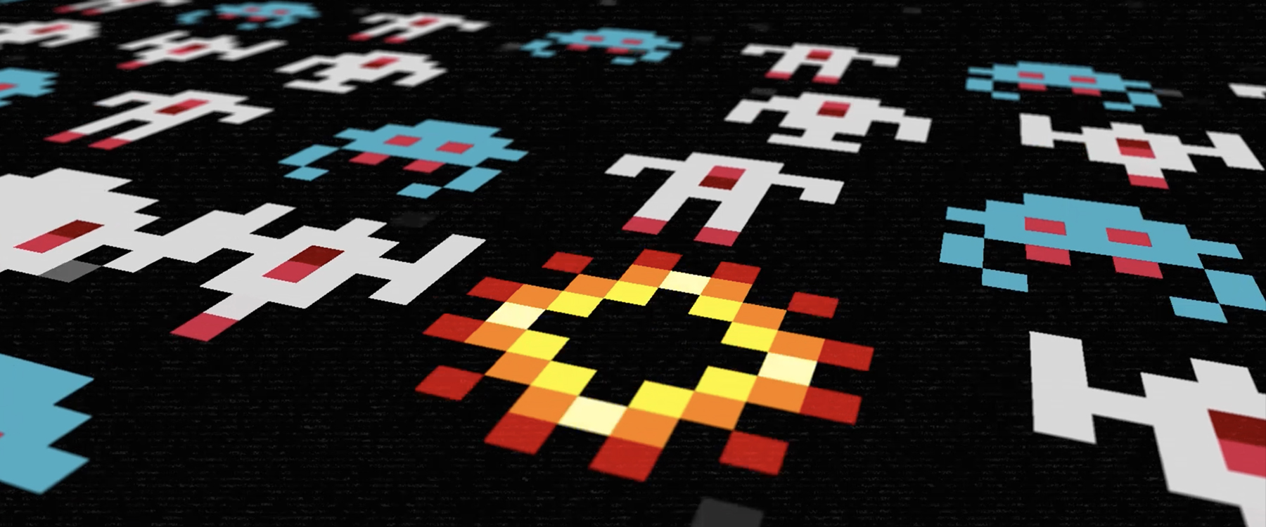 abstract space invaders