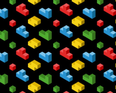 Retro gaming graphic inspired by tetris