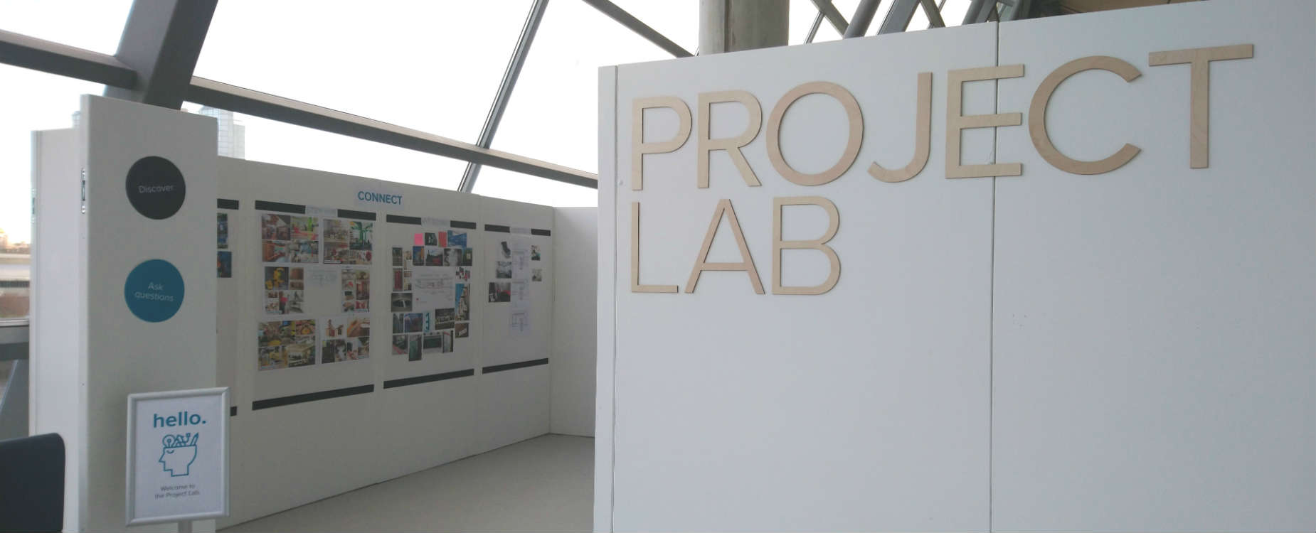 The Project Lab entrance on Floor 2 at GSC