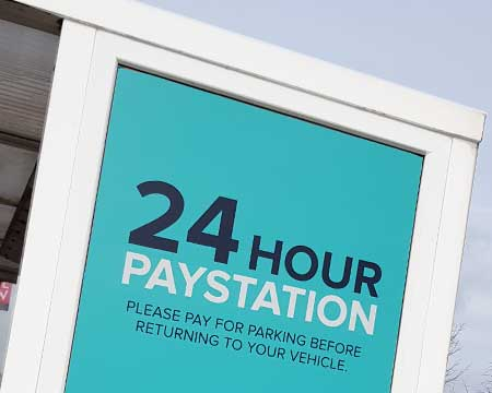 24 hour car park sign