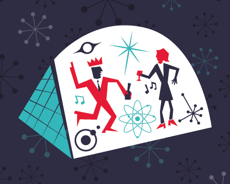 Christmas Party illustration at Glasgow Science Centre