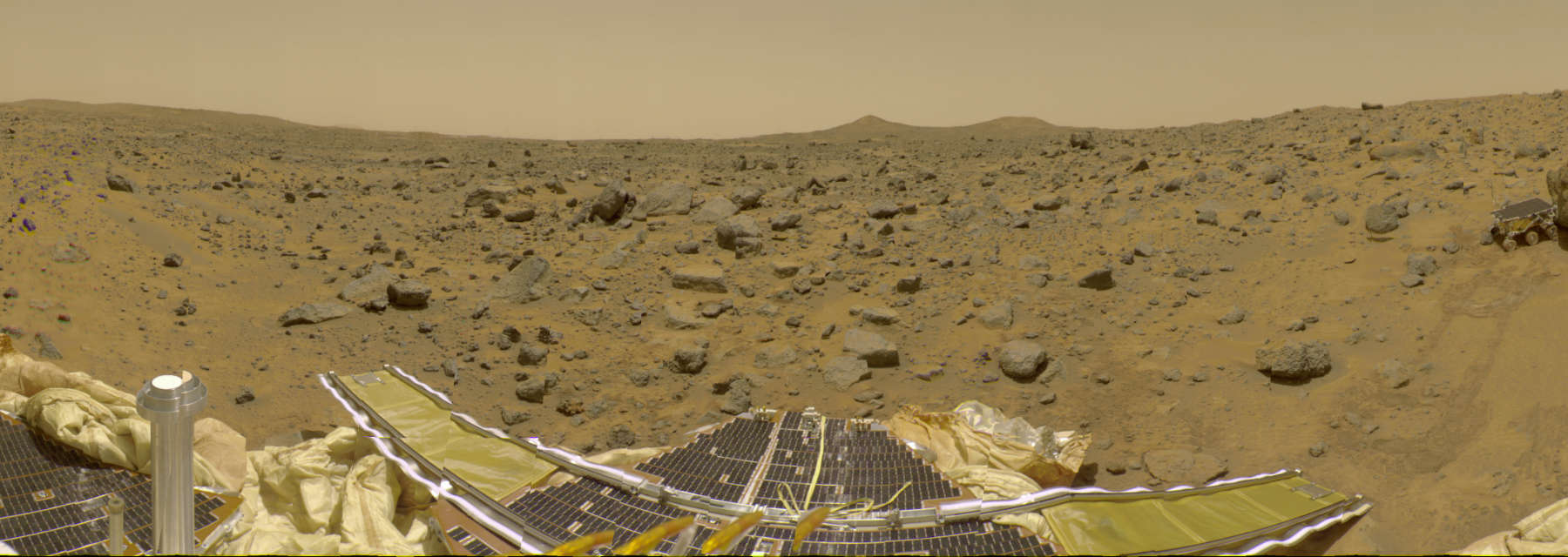 The Martian surface viewed from Pathfinder. Image: NASA