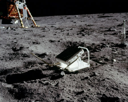 Apollo 11 Lunar laser ranging experiment on the surface of the Moon