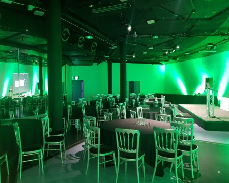 Tower North event space Glasgow Science Centre