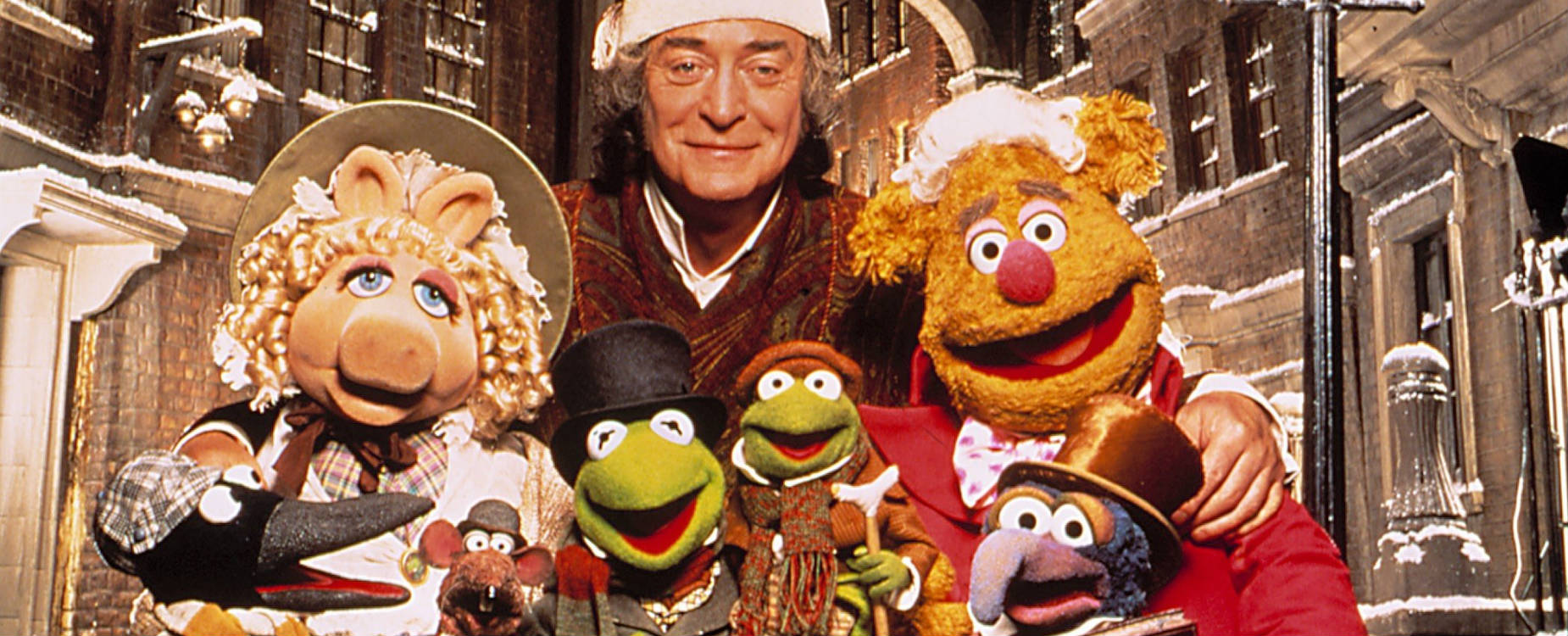 The Muppet Christmas Carol - publicity shot featuring Michael Caine.