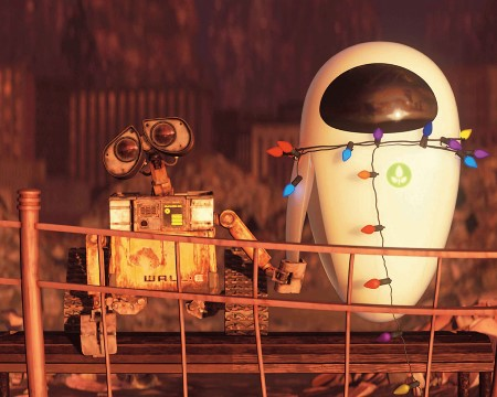 WALL·E and EVE hold arms - Images may be subject to copyright.