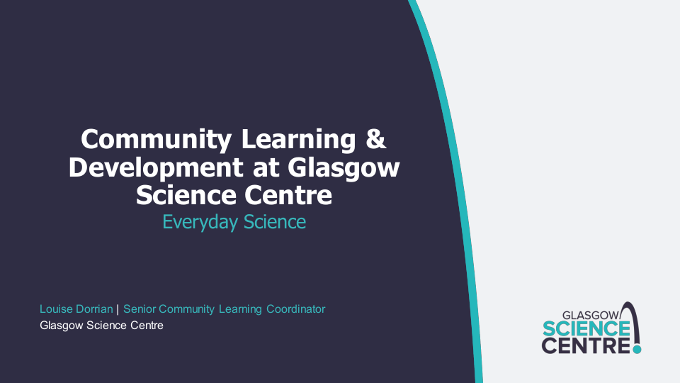 Community Learning and Development - Everyday Science presentation