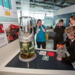School pupils with hearing impairment exploring Powering the Future