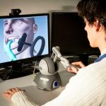 A computer-generated visualisation tool being used to train dentistry students