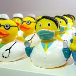 There's a huge selection of rubber ducks, including Einstein